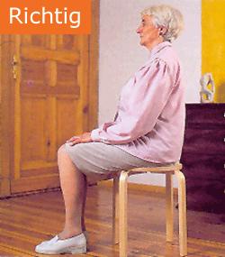 Osteoporose Sachsen - So sitzen Sie richtig