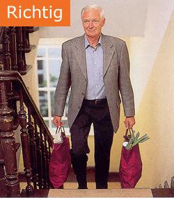 Osteoporose Sachsen - So tragen Sie Ihre Einkäufe richtig